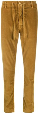 corduroy slim-fit trousers - Yellow