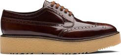 brushed leather brogues - Brown