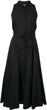 belted midi dress - Black