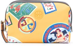 Perry Travel-print cosmetic bag - Yellow