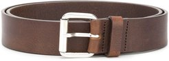 smooth finish buckle belt - Brown