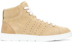 high-top lace-up sneakers - Neutrals