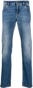stonewash ripped jeans - Blue