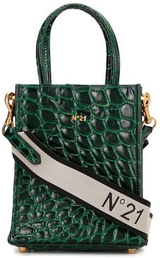 embossed-leather bag - Green