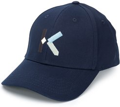 embroidered-logo baseball cap - Blue