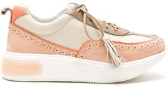 leather College trainers - Neutrals