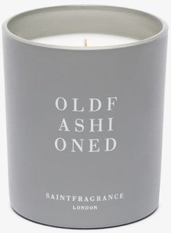 grey and white old fashioned candle