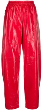 varnished leather trousers - Red
