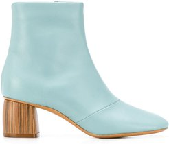 contrasting heel ankle boots - Blue