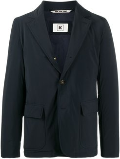 single-breasted tailored blazer - Blue