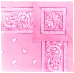 paisley embroidered scarf - PINK