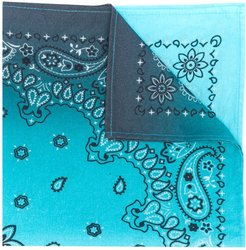 paisley embroidered scarf - Blue