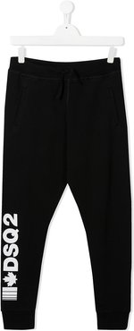 TEEN logo print track pants - Black