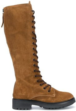 suede knee-length boots - Brown