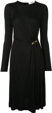 ruched midi dress - Black