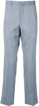 washed-effect trousers - Blue