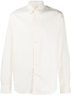 Dan mother-of-pearl buttoned shirt - White