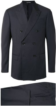 two-piece double-breasted suit - Blue