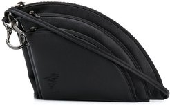 Triple Pouch shoulder bag - Black