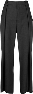 high-waisted wide-leg trousers - Grey