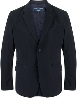 fitted single-breasted blazer - Blue