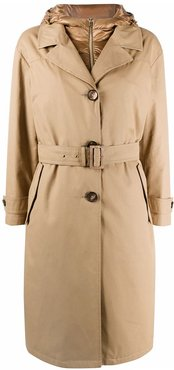 padded interior trench coat - Neutrals