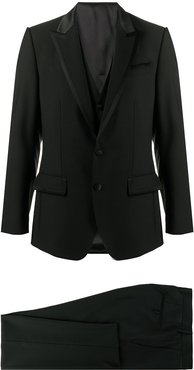 two-piece single-breasted tuxedo suit - Black