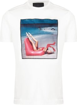 graphic print T-shirt - White