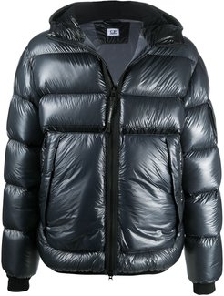 hooded D.D. shell down jacket - Blue