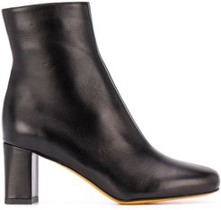 square toe ankle boots - Black