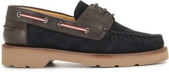panelled boat shoes - Blue