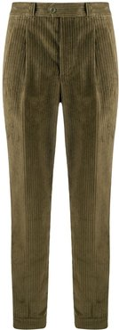 corduroy tapered cotton trousers - Green