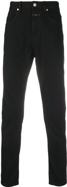 mid-rise slim-fit jeans - Black