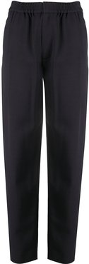 high-waisted trousers - Blue