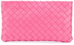 Intrecciato weave make up bag - PINK