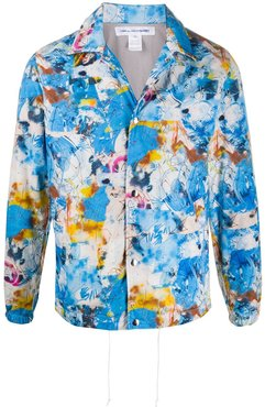 all-over print bomber jacket - Blue