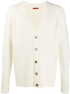 V-neck button down cardigan - Neutrals