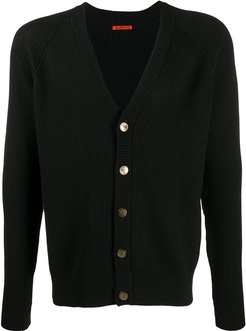 V-neck button down cardigan - Black