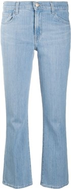 Selena mid-rise cropped jeans - Blue