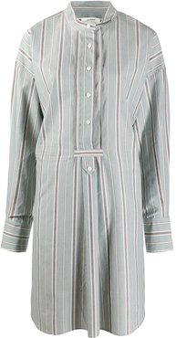 striped shirt dress - Blue