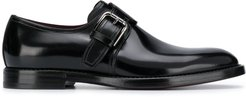 polished monk shoes with single buckle - Black