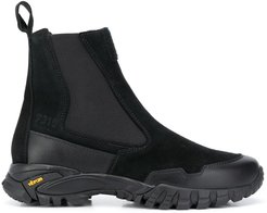 elasticated side panel boots - Black