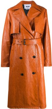 belted trench coat - Brown