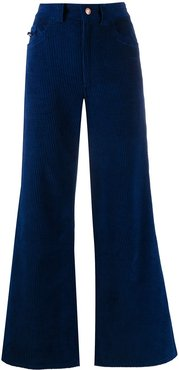 corduroy flared jeans - Blue