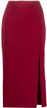 side slit pencil skirt - Red