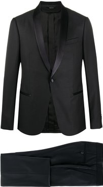 two-piece tuxedo suit - Black