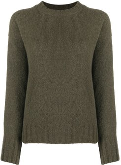 plain classic jumper - Green
