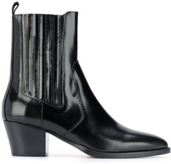pointed ankle boots - Black