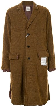 single-breasted coat - Brown