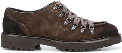 suede lace-up shoes - Brown